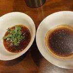 アジアンヌードル 展 - 鶏ガラスープ用のタレ2種