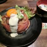 神保町ビーフ - ローストビーフ丼900円+スープ50円