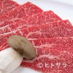 ゆかり - 旨味溢れる和牛と、淡路島産の玉ねぎがアクセントになる、絶品和牛料理『特選和牛 前バラのすき焼き』
