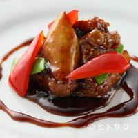 チャイニーズキッチン粤香 - 3種の酢を使ったオリジナルソースの深いコクがたまらない『黒酢の酢豚』