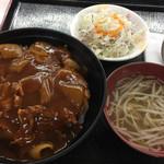 けんちょう食堂 - 日替わり丼「オリエンタルライス」520円
