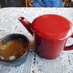 そば処 しろやま - 蕎麦湯