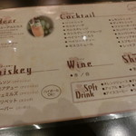 Irish pub Booties・・・ - ドリンクメニュー