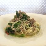 68338112 - 愛知県産豚肉と菜の花のオイルソース
