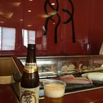 奴寿司 - ノンアルビールをまずは頂く