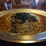 洋麺亭 - 「和風きのこ」Lサイズ」(山菜とツナの入った洋麺亭自慢の和風ソースで煮込みました)