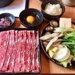 どん亭 - 料理写真:熟成牛ロースすき焼き大盛1177円