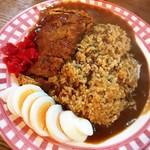 まるきん - 料理写真:カツカレー 大 + ゆで玉子