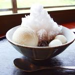 五十鈴川カフェ - 雪見冷しぜんざい