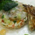エノテカラウラ - 料理写真:ガス海老とお米のサラダ
