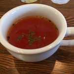 マグルズカフェ - ランチプレートのスープ