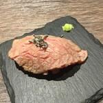 Teppanyakigurou - お通しがあぶり寿司