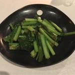 68355429 - 空芯菜と青菜のガーリック炒め