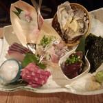 魚金 - お手頃3点盛(鯵)(1580円)