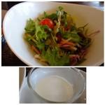 中華料理 頤和園 - ◆サラダは普通。 ◆杏仁豆腐も普通に美味しい。