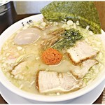 中華そば馥 - 山形辛味噌らーめん+味付玉子 800+0円(味玉はランチサービス) 魚介出汁の旨味溢れるスープに味噌がふわりと香る♪