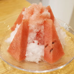 フルーツパーラーゴトー - 熊本産の氷すいか(830円)