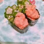 海転寿司 丸忠 - オクラと納豆 ネバネバペア...♪*゚