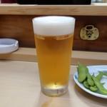 家庭料理 小川 - 生ビール