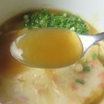 68363648 - 従来のカレー餡と違い、出汁をかなり重視した、透明感のある葛餡っぽいです。