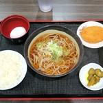 とらそば - CPバツグン朝そば定食¥350
