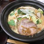 せんじゅ 麺処 猪太 - 豚骨味噌ラーメン(820円)