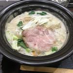 せんじゅ 麺処 猪太 - 豚骨塩ラーメン(820円)