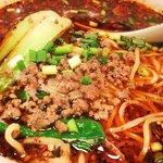 成都 - 料理写真:四川風激辛坦々麺