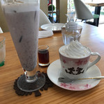 cafe cherry blossom - 小豆クリームラテ、小豆黒蜜ラテ