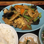 大陸食堂 - 木くらげ玉子定食¥880(税別)