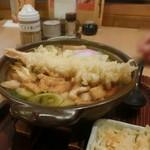 かま濃 - 親子味噌煮込みうどん(天ぷらトッピング)