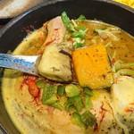 薬膳スープカレー・シャナイア - 切り方が変更された野菜