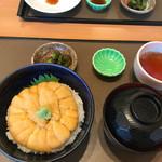 うに むらかみ 函館本店 - レギュラーサイズの見た目はお茶碗並み。利尻の紫雲丹