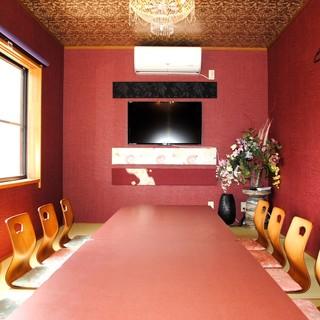 落ち着いた和空間はお座敷から完全個室まで幅広いシーンに対応