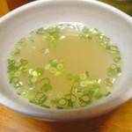 三丁目そば - 「豚丼」のスープ
