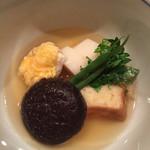 坂ぐち - [炊き合わせ] 穴子きんつば煮、椎茸、粟麩、長芋