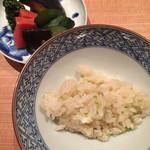 坂ぐち - [ご飯] 新生姜ご飯、三つ葉