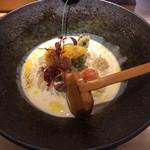 茶ぶ釜 - 料理写真:季節限定ビシソワーズうどん