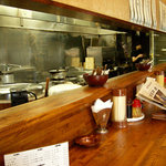 蘭宴 - 蘭宴 @西葛西 カウンターと厨房