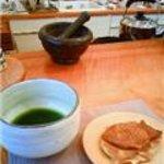 Chaie - お抹茶とたい焼きのセット。