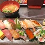 魚がし寿司 まさきよ - ランチ1500円にぎり