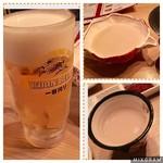 ファイティングマン - 生ビール。マッコリはバカチ×3。
