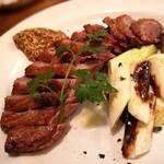 大衆食堂 瓦町ブラン - 鴨胸肉の網焼き白葱添え