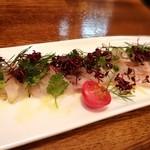 大衆食堂 瓦町ブラン - 太刀魚カルパッチョ、新鮮な味わい