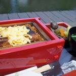 皿屋 福柳 - ミニせいろむし(1650円)肝吸い、漬物付