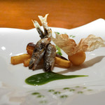 スダチ - 料理写真:稚鮎の焼き物