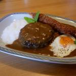 レストラン翔 - 料理写真:ハンバーグエビフライカレー