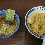 つけめん さなだ - つけ麺(800)+壊れ玉子(10円)