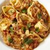 リコッタチーズとひよこ豆のトルテッリーニとトリッパ