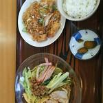 68410775 - 台湾冷麺と油淋鶏のset